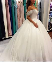 rhinestone wedding dress. Off The Shoulder Two Straps Rhinestones Crystals Ball Gowns Wedding