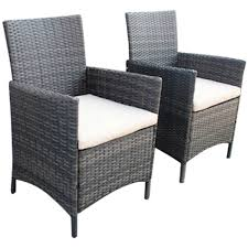 dining chairs brown. Charles Bentley Verona Pair Of Rattan Dining Chairs Garden Furniture - Brown