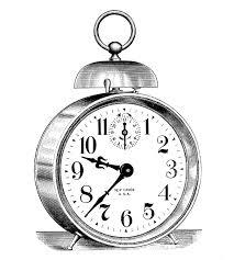 vintage clip art classic alarm clock steampunk