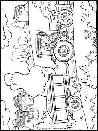 Tractor Met Kar Kiddicolour Idee Kleurplaat Boerderij Tractor20