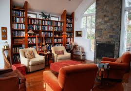 contemporary library furniture. Contemporary Home Library Furniture With Neat Arrangement : Conventional Custom Design I