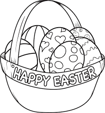 Easter Egg Basket Coloring Page Coloring Pages For Kids