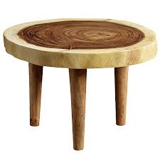 nature round coffee table with three legs solid 8cm