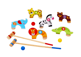 tooky toys wooden croquet game