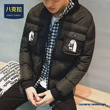 best ing new winter men baseball collar retro winter printed coats grey