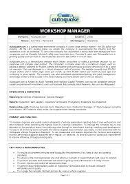 Workshop Manager Sample Resume Workshop Manager Sample Resume shalomhouseus 1
