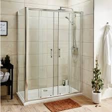 premier pacific double sliding door shower enclosure 1400x900 6mm