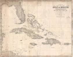 Imray Or Admiralty Charts Chart Of The Gulf Of Mexico And Windward Passages Including