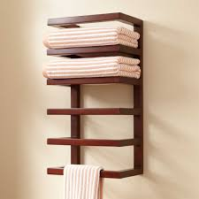 wooden wall mounted towel rack  home wall ideas  wall mounted