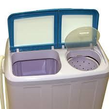 Miniature Washing Machine Twin Tub Washing Machine 48kg Compact Portable Caravan Spin Dryer