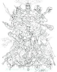 Final Fantasy Coloring Pages Neycoloringsmart