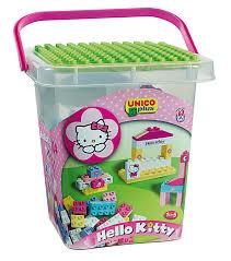 Costruzione unico hello kitty auto con roulotte 47pz 8679: amazon