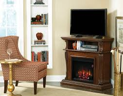 42 corinth burnished walnut entertainment center wall and corner electric fireplace 23de1447 w502
