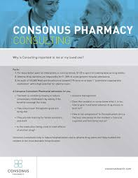 Pharmacist Consultant Reduce The Overall Cost Of Care Consonus Health