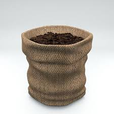 coffee beans bag. Perfect Coffee 3D Model Coffee Burlap Hessian Fabric Bag With Beans VR  AR  Lowpoly OBJ MTL 3DS FBX C4D Intended