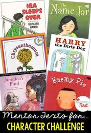 primary mentor text suggested book list for character challenge and response rl2 3
