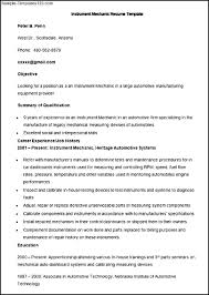 Instrument Technician Sample Resume Elevator Mechanic Sample Resume Shalomhouseus 13