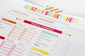 Printable Budgeting Sheets Budget Sheet Track Monthly Finances Using Free Printables