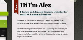 inspirational website introductions webdesigner depot alex cohaniuc