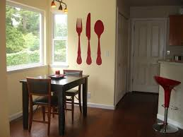image of extra large fork and spoon wall decor