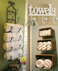 wood towel rack with hooks. Creative Towel Rack Storage Using Wall Mounted Rattan Box Or Old Metal Hooks Ideas Wood With T