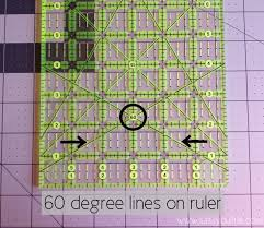 Cutting Triangles using your ruler! - The Sassy Quilter & The most popular quilting ruler is the 6 x 24 ruler in this picture above.  You may have even noticed all these crazy lines before! Well they are  perfect for ... Adamdwight.com