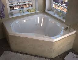 venzi grand tour tovila 60 x 60 corner air whirlpool jetted bathtub with center drain