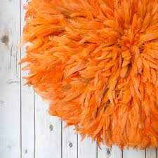 feather ju ju head dress or wall hanging