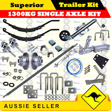 superior diy 1300kg single axle trailer kit slipper springs disc brakes