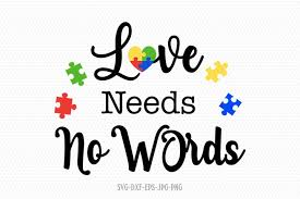 Available in png and vector. 49 Love Needs No Words Autism Awareness Svg File Teac T Shirt Zazzle Com Download Love Needs No Words Svg Png