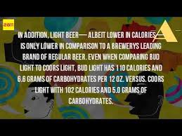 how many carbs are in a coors light beer