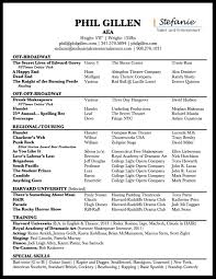Musical Theatre Resume Musical Theatre Resume Phil Gillen 32