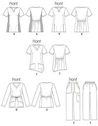 Scrub Patterns Magnificent M48 Misses'Women's Scrubs Tops And Pants Sewing Pattern