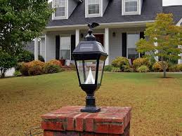 front yard with lantern post light