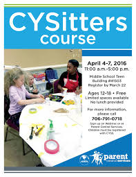 babysitter s course fort gordon family and mwr flyer