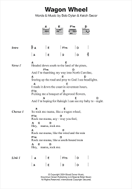 wagon wheel sheet music wagon wheel sheet music by old crow medicine show lyrics chords