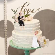 Western Style Synthetic Resin Bride Groom Wedding Cake Topper