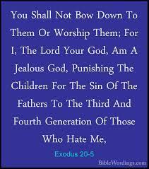 Exodus 20 - Holy Bible English - BibleWordings.com