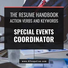 The Curriculum Vitae Handbook Amazing The Resume Handbook Special Events Coordinator Resume Samples With