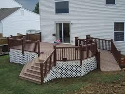 Handicap Ramps Wood Designs Handicap Deck Ramp Design Decks In Backyard Deck With Ramp