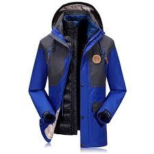 winter mens casual jacket 90 white duck down patchwork hooded 2pcs fleece warm wind proof jacket size m 4xl