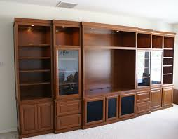 wall units with glass doors
