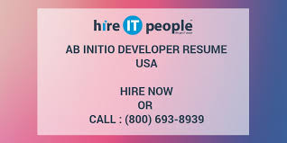 Ab Initio Developer Resume Hire It People We Get It Done