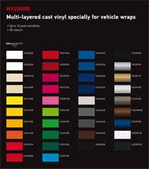 Vinyl Wrap Color Chart Vehicle Wrap Vinyl Choices Luxury Vehicle Wraps