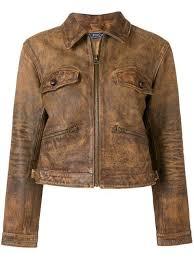 polo ralph lauren zipped leather jacket