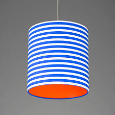 pick and mix stripe drum lampshade choice of colours by quirk striped lamp shade blue