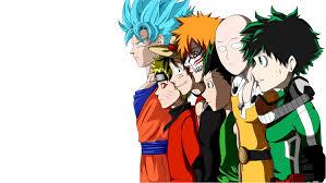 Athah Designs Anime Crossover Dragon Ball Hunter × Hunter One Punch-Man Bleach  One Piece Naruto Boku no Hero Academia Gon Freecss Goku Saitama Ichigo  Kurosaki Monkey D. Luffy Naruto Uzumaki Izuku Midoriya