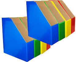 Cardboard Magazine Holder Amazon Magazine File Holders Bold Colors Coordinate 4