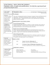 Resume Qualifications And Skills Examples Resume Job Skills