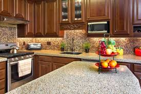 Decorate Kitchen Countertops Stunning Kitchen Counter Decorating Ideas With Dark Brown Wooden